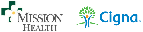 Mission Health and Cigna logos